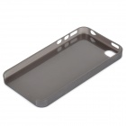 S-What 0.3mm Ultrathin Protective Frosted TPU Back Case for IPHONE 4 / 4S- Translucent Black