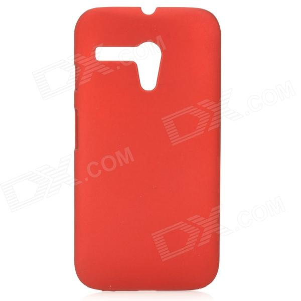 Protective Matte PC Back Case for MOTO G - Red