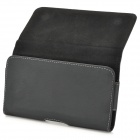Universal Wallet Style Flip Open PU Case for 16 x 9.5 x 2cm Cellphone - Black