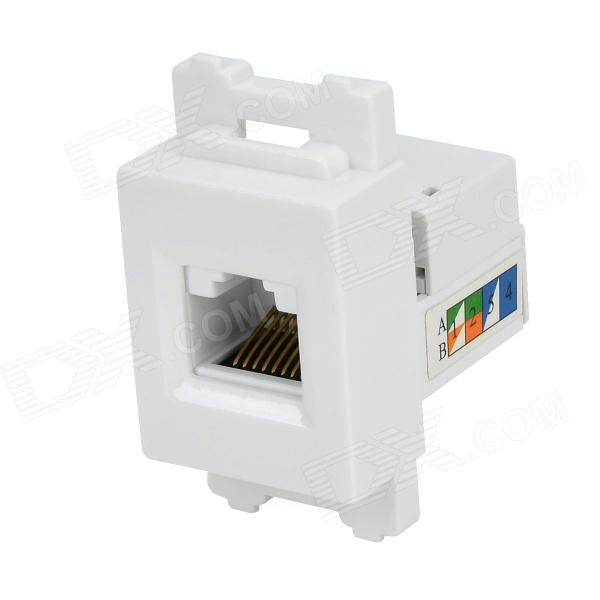 Módulo de red de G-6 ABS CAT6 w / Panel - Blanco