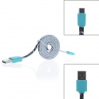 Colorful Skull Style Micro USB macho a USB 2.0 Male Data Sync / cable de carga para Samsung / Sony