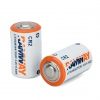 Hongyang CR2 3V Li-MnO2 Batteries - White + Blue + Multicolored (2 PCS)
