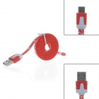 Star Style Micro USB Male to USB 2.0 Male Data Sync / Charging Cable for Samsung / Sony - Red