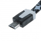 Star Style Micro USB Male to USB 2.0 Male Data Sync / Charging Cable for Samsung / Sony - Black