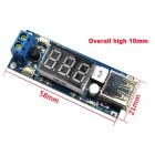 12V Turn 5V Buck Module / LED Car Battery Voltage Meter - Blue