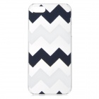 Protective Wave Pattern Plastic Back Case for IPHONE 5 / 5s - White + Black + Multi-Colored