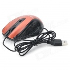 Kingdeny Universal USB Fast 1600dpi LED Mouse - Svart + gylne Orange