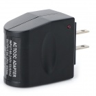 GYG142012 AC90~240V to DC12V US Plug Power Adapter + EU Plug to US Plug Adapter - Black + Silver