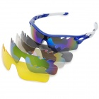 OREKA WG-565 Sports UV400 Polarized Cycling Sunglasses Goggles w/ Replacement Lens Set - Blue