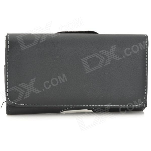Universal Wallet Style Flip Open PU Case for 14.5 x 8 x 2cm Cellphone - Black