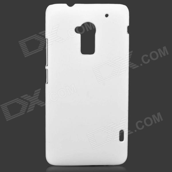 Protective PC Matte Case for HTC ONE MAX / T6 - White matte protective pe back case for htc one x s720e red