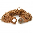 UBEAUTY 8005 Fashionable Bead Decorated Bracelet - Antique Brass