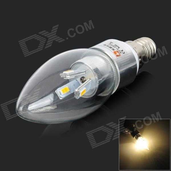 LeXing LX-LZD-1 E14 3W 200lm 3500K 6-SMD 5730 LED Warm White Lamp Bulb (85~265V) lexing lx qp 20 e14 6w 470lm 3500k 15 5730 smd led warm white light dimmable lamp ac 220 240v