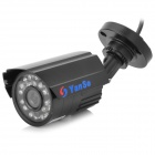 YanSe YS-6624DB 1/3 CCD 420TVL Waterproof Camera w/ 24-IR LED - Black