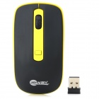 JEWAY JM1270 Portable 800/1200/1600 DPI USB 2.0 Wireless LED Mouse - Black + Yellow (1 x AA)
