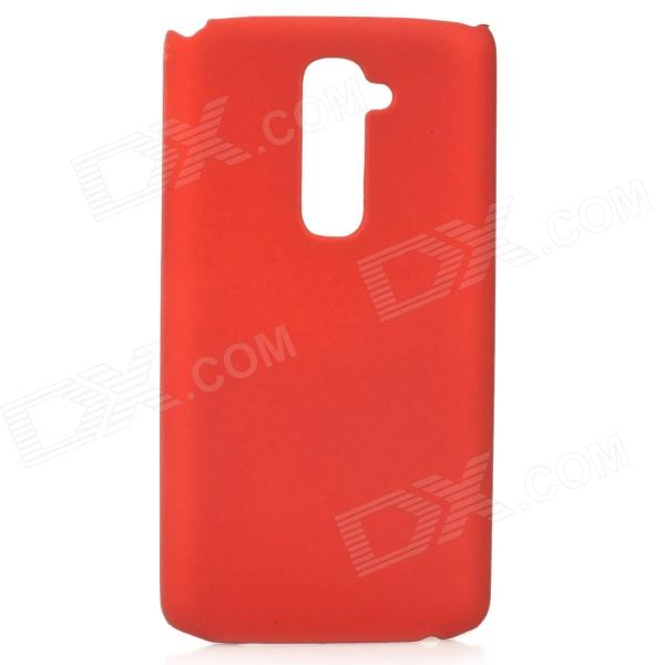 Protective PC Matte Back Case for LG G2 - Red
