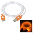 Micro USB 9 Pin Orange LED Light Data Cable for Samsung Galaxy Note 3 - Orange + White (100 cm)