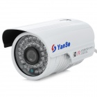 YanSe YS-806DW 1/3 SONY CCD 420TVL Waterproof Camera w/ 36-IR LED - White