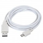 Micro USB 5-Pin Male to USB 2.0 Male Charging Data Cable for Samsung + More - White (150 cm)