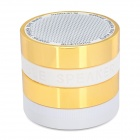 MSC-GYH-268 3W Bluetooth V2.1 Speaker w/ Microphone / FM / Mini USB / TF - Golden + Black + White