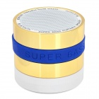 MSC-GYH-268 3W Bluetooth V2.1 Speaker w/ Microphone / FM / Mini USB / TF - Golden + Blue + White