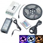505060MusicRGB 72W 12V 300-SMD 5050 RGB Epoxy Decoration LED Strip Kits w/ Music Control (500cm)