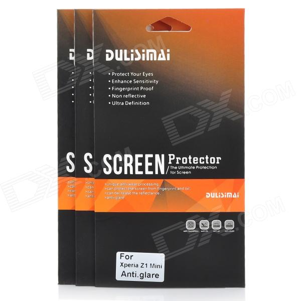 DULISIMAI Protective Matte Frosted Screen Protector for Sony Xperia Z1 Mini - Transparent (3 PCS)