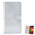 Protective PU Leather + Plastic + Rhinestones Flip-open Case for Samsung Note 3 - Silver