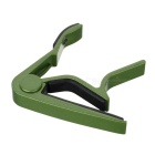 Aluminum Alloy Clip-On Quick Release Capo for Acoustic Guitar - Green