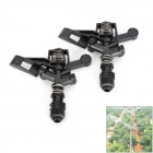 E8HLY Plastic Gardening / Field Irrigating Sprinklers - Black + Silver + Multicolored (2 PCS)