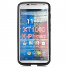 S Pattern Protective TPU Case for Moto X-phone - Black