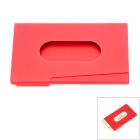 Creative Zinc Alloy Storage Case for Business Card - Red