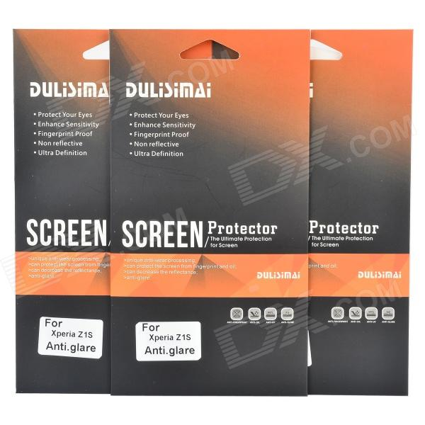 DULISIMAI Matte Frosted Screen Protector for Sony Xperia Z1S - Transparent (3 PCS) dulisimai motorcycle bicycle mount waterproof bag pouch for sony xperia z2 black
