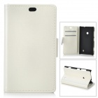 Protective PU Leather + PC Case for Nokia Lumia 525 / Lumia 520 - White