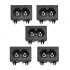 AC-8-17VS2BAC 250V AC 5A Sockets industriels - Noire (5 PCS)
