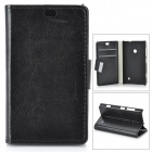 Protective PU + PC Case for Nokia 525 / 520 - Black