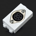 6-Core Microphone Wall Power Socket - White + Black