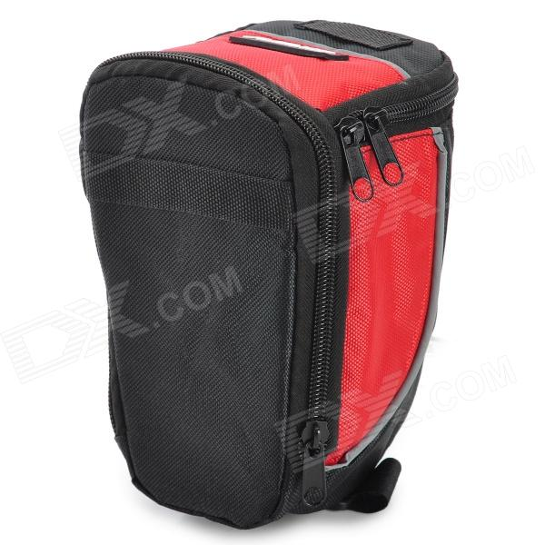 FJQXZ B002 Universal Outdoor Sports Cycling Nylon Saddle Bag Set - Black + Red + Multi-Colored d28 600d nylon waterproof bicycle saddle bag black