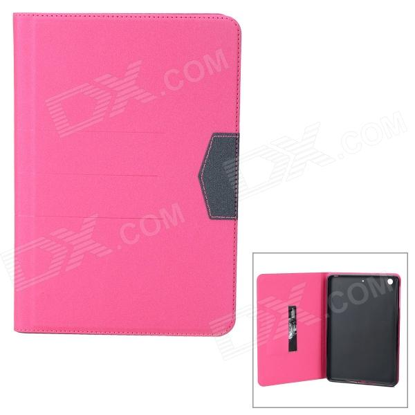 Matte Protective PU + Silicone Case w/ Stand for IPAD MINI / Retina IPAD MINI - Deep Pink case for ipad mini 1 2 3 4 full body protective silicone tablet pc cover shell coque kids case for ipad mini shockproof