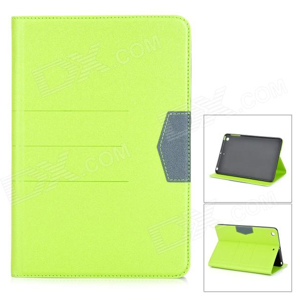 Matte Protective PU + Silicone Case w/ Stand for IPAD MINI / Retina IPAD MINI - Green gv08 1 5 screen ogs touch screen bluetooth v3 0 smart watch phone w camera sim tf card slot