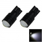 T10 / 194 / W5W 3W 200lm 1-COB LED White Car Side Light / Clearance / Indicator Lamp - (12V / 2 PCS)