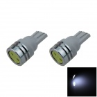 T10 / W5W 1W 100lm 1-COB LED White Car Side Light / Clearance / Reading lamp - (12V / 2 PCS)