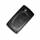 Replacement 3-Button Folding Remote Control Key Case for Peugeot 408 - Black