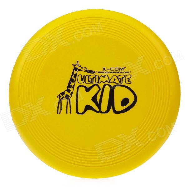 X-COM UK105 Giraffe Soft Kid Disc Ultimate PU Flying Sport Disc - Yellow rgb light flying disc