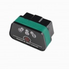 Super Mini iCar2 Vehicle Wi-Fi OBD-II Code Diagnostic Tool / Clearer - White + Green