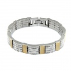 Fashionable Punk Man Bracelet - Silver + Golden