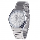 BADACE Men's Stainless Steel Band Quartz Analog Wrist Watch w / Rhinestone + 3 Decorative Sub-dials