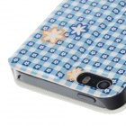 Fashion Flower Pattern PU Leather Protective Case for IPHONE 5 / 5S - Multicolor