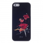 ipai HT3018 Dream Rose Ultrathin Protective Case for IPHONE 5 - Black + Red