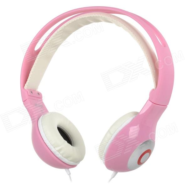 Yongle IP-801B Stylish 3.5mm Jack Wired Headset w/ Microphone for IPHONE / IPAD - Pink + White New Orleans Ad Prokupka